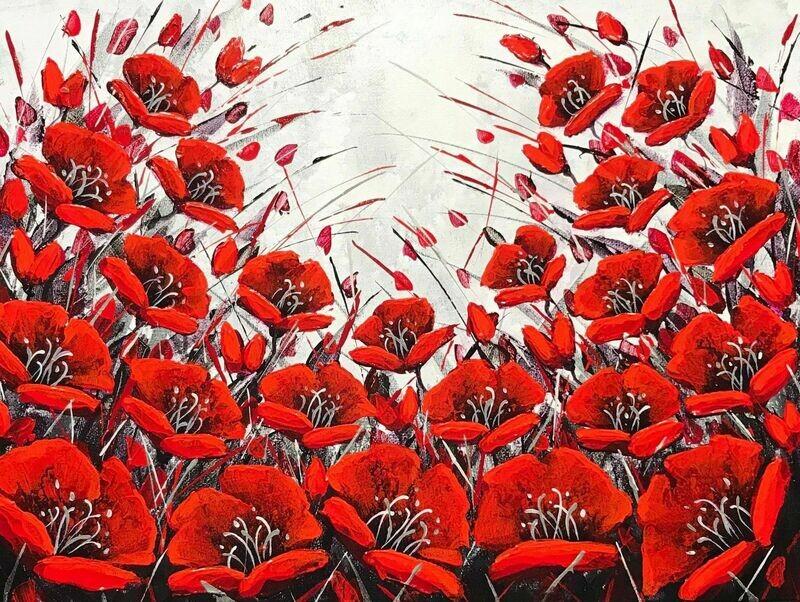 Sensational - Winter Poppies 12x16