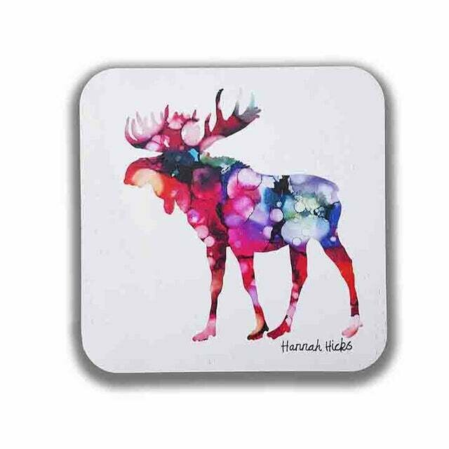 Hannah Hicks Coaster Set- Moose
