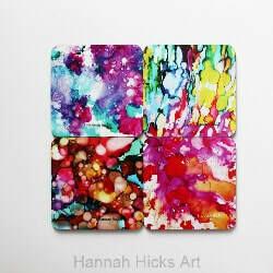 Wild and Free Abstract Coaster Set - Hannah Hicks