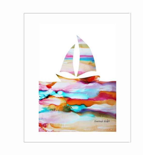 Sailboat Print - Hannah Hicks