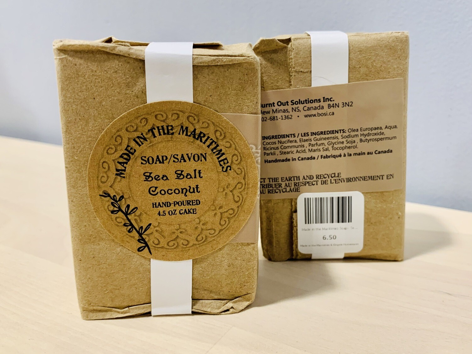 Made in the Maritimes Soap- Sea Salt Coconut