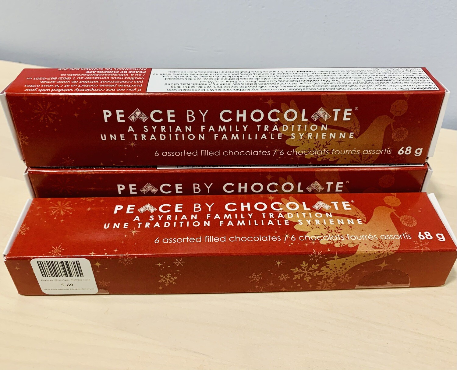 Peace by Chocolate- Holiday Sleeve