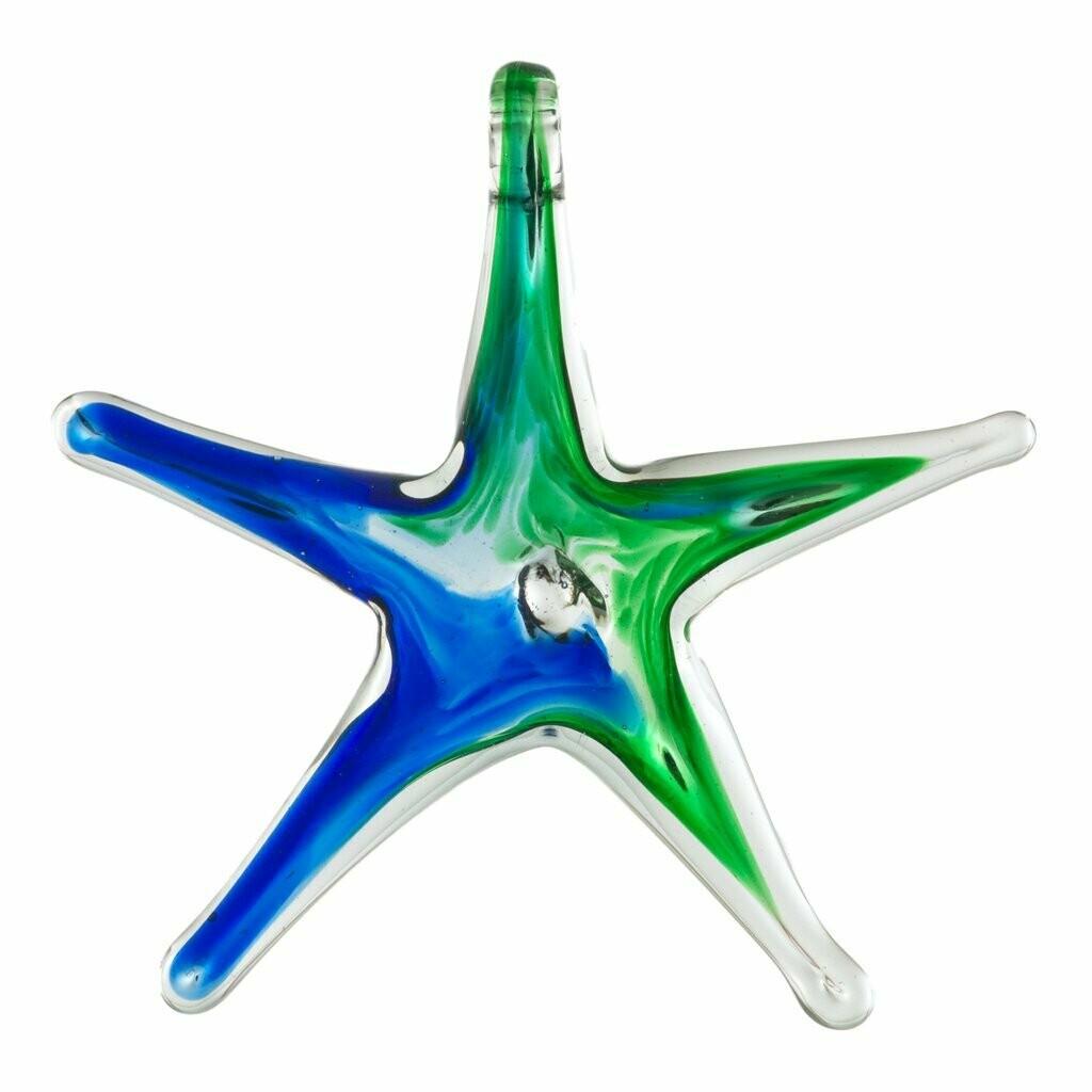 "Blue Green 4"" Wishing Star"