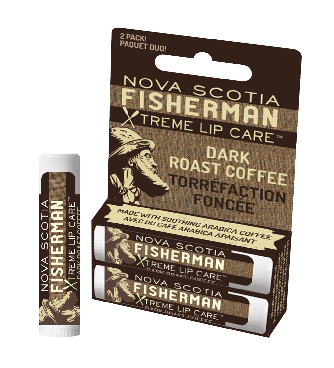 NS Fisherman Lip Balm Duo- Coffee