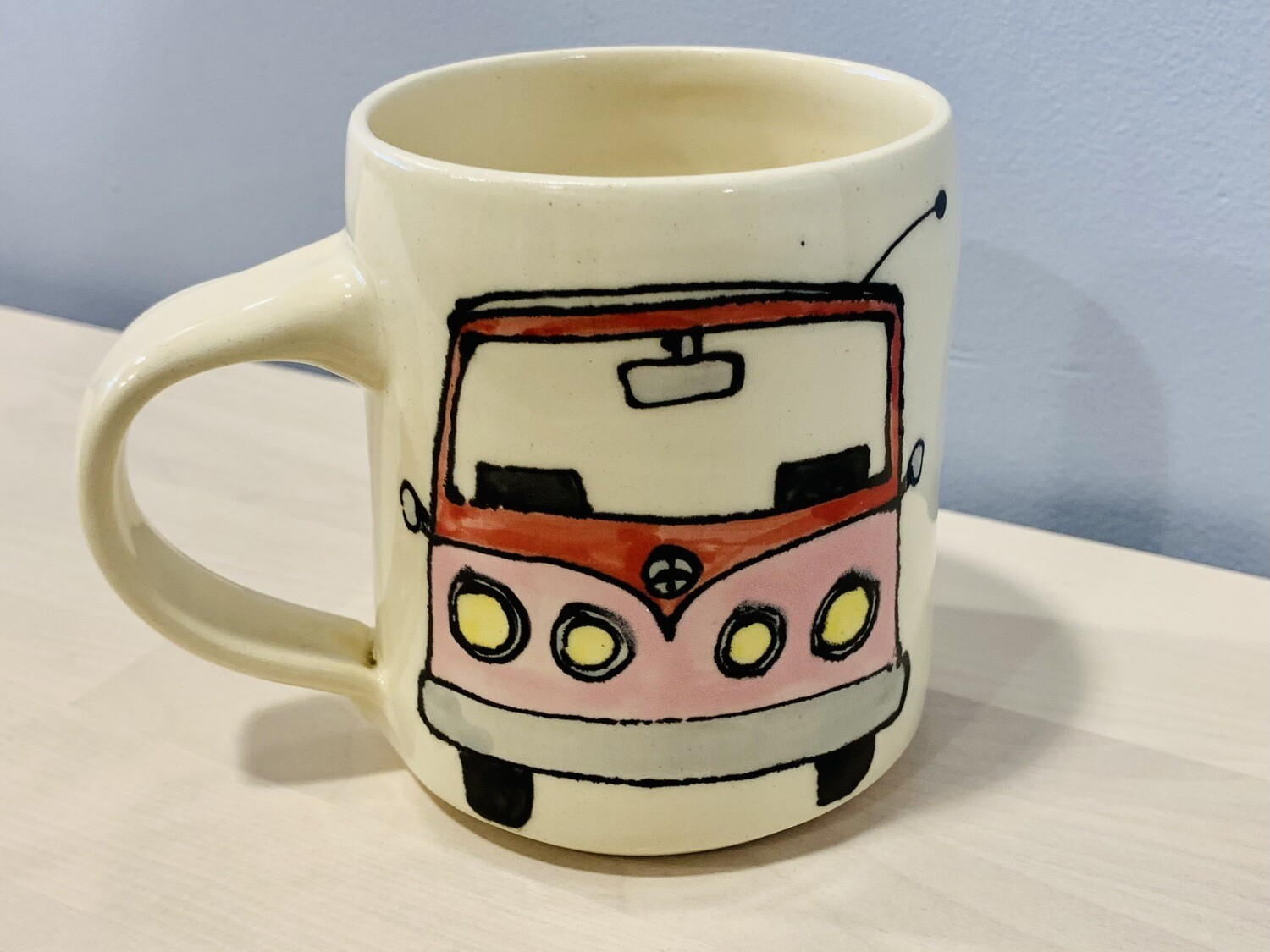 Pink VW, cream - Branches Pottery