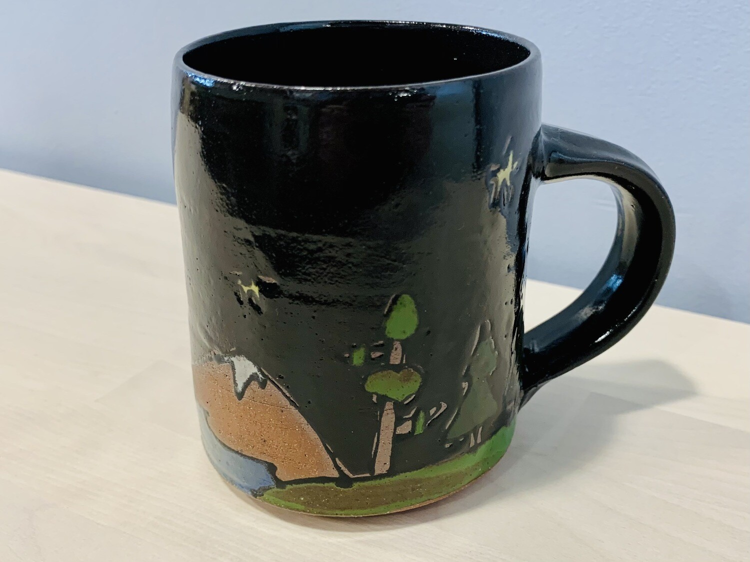 Camping Mountains, black - Branches Pottery
