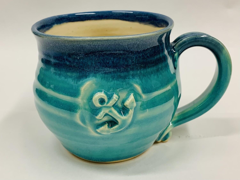 Gloria Dunbar Seafoam Anchor Mug, Short