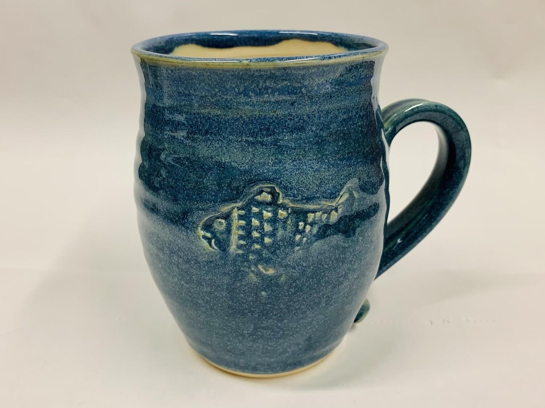 Navy Fish Mug, Tall