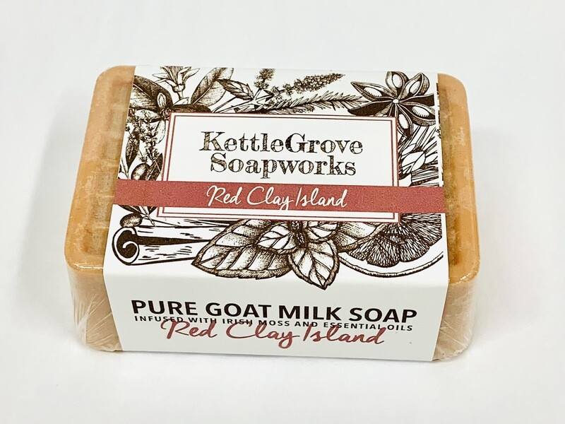 KettleGrove Goat Milk Soap- Red Clay Island