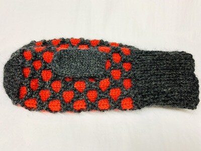 MT3 Bubble Mitten- Charcoal/ Cherry