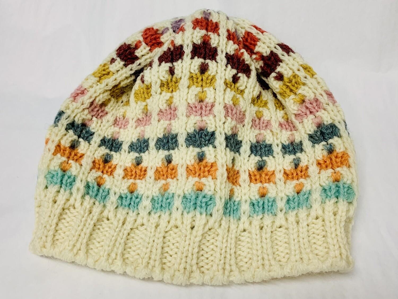 FH9 Flowerhead- Ecru Multicoloured