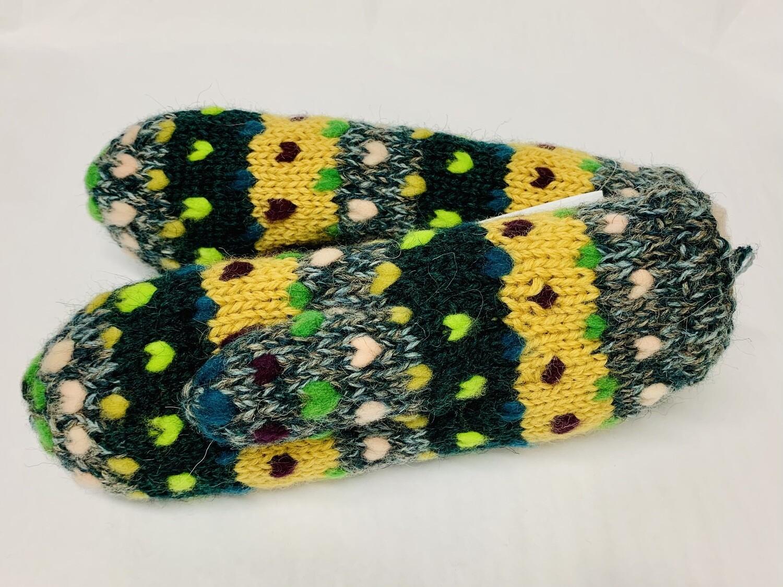 MT5 Thrum Mitten- Multi Yellow/ Green
