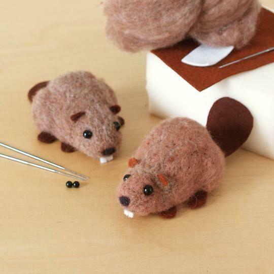 Canadian Beavers Felting Kit