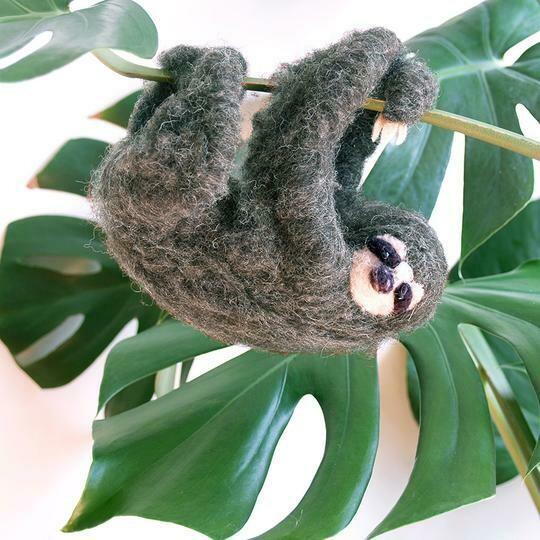 Hanging Sloth Felting Kit