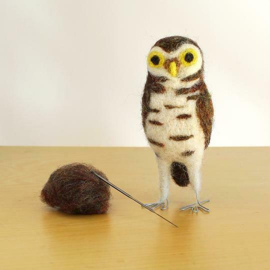 Burrowing Owl Felting Kit