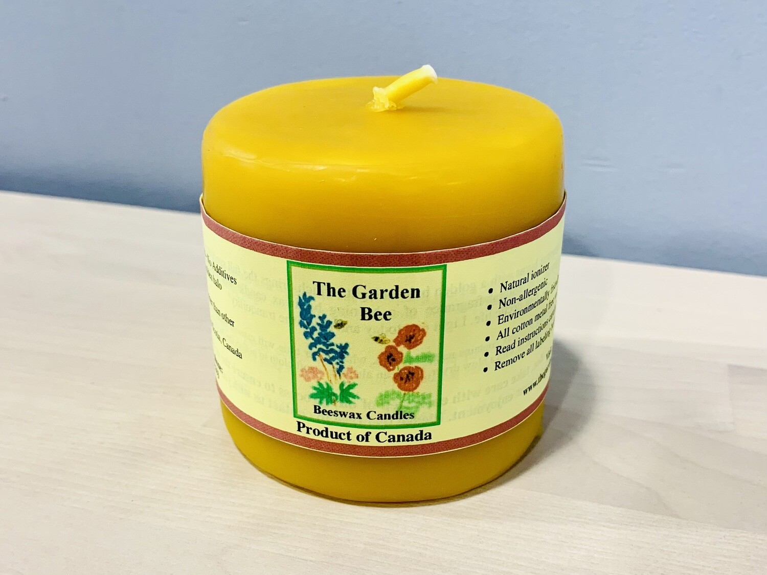 """Beeswax 3"""" Tall Round Candle"""
