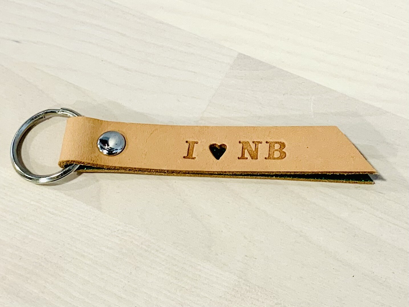 I Heart NB Keychain