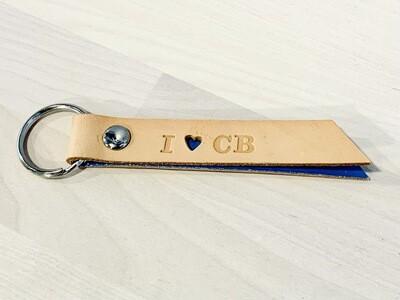 I Heart CB Keychain