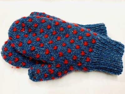 Denim Blue Thrummed Mitten, Medium - Sheep's Clothing