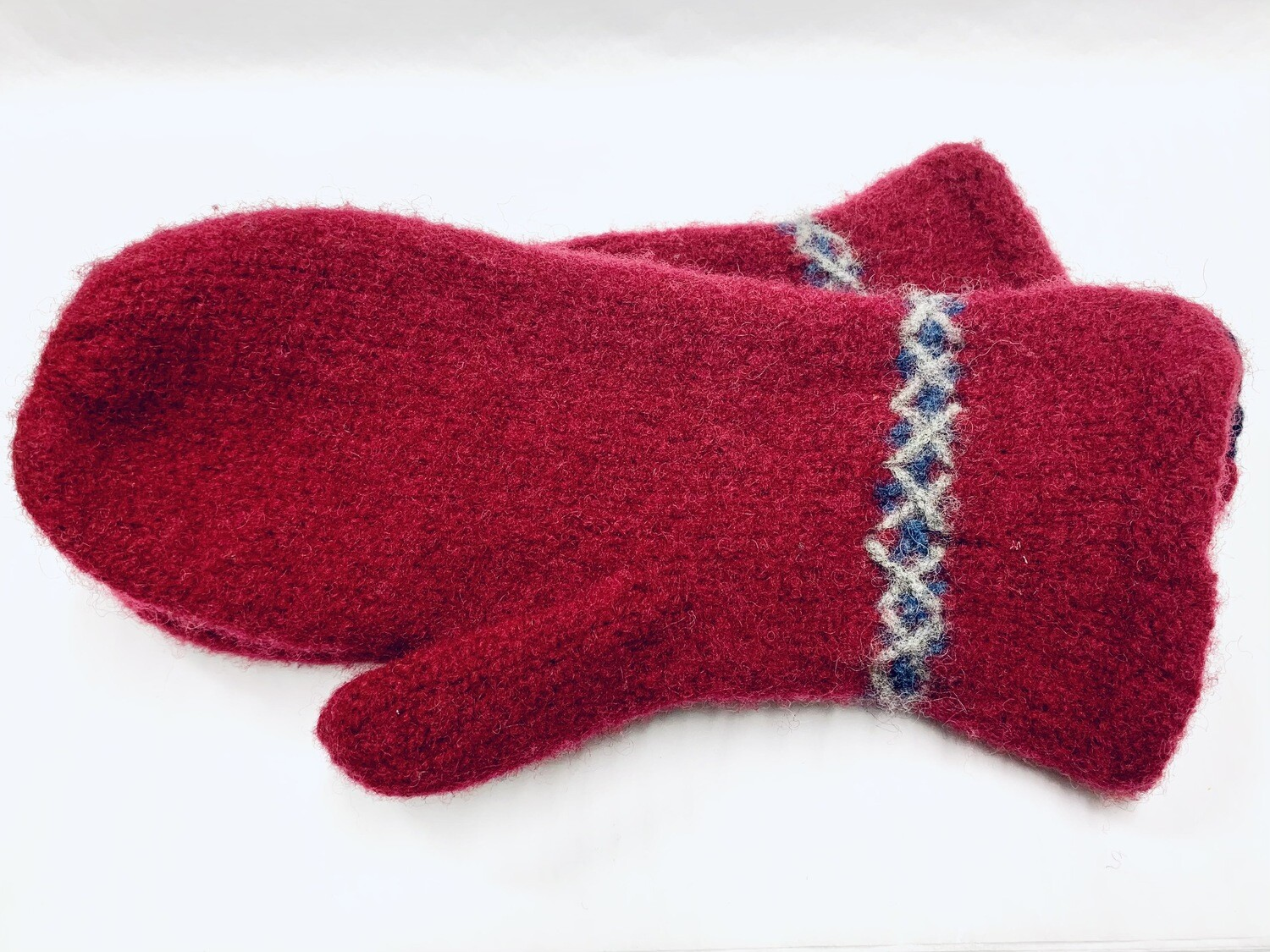 Maroon Boiled Mitten - Sheep's Clothing