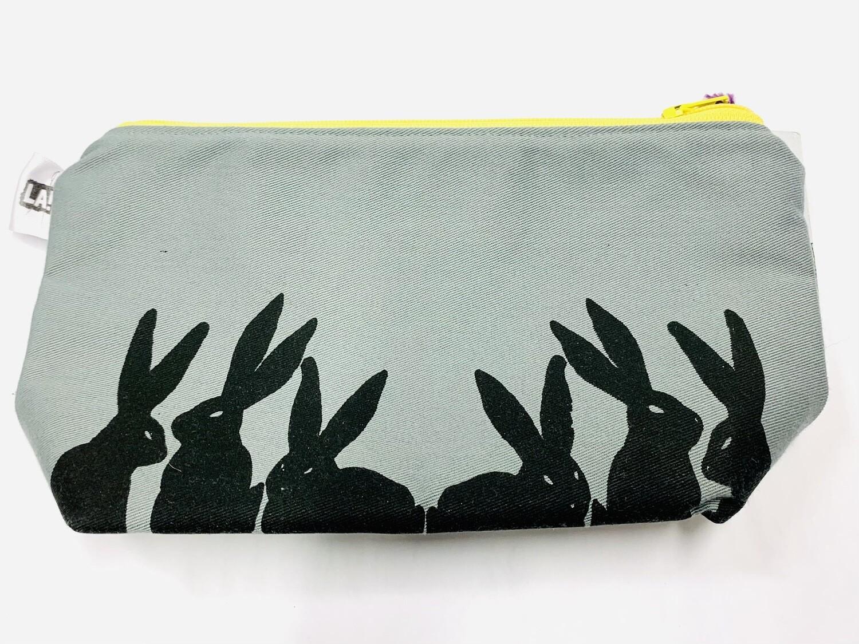 Grey Bunnies Pouch - Leigh-Anne Dean