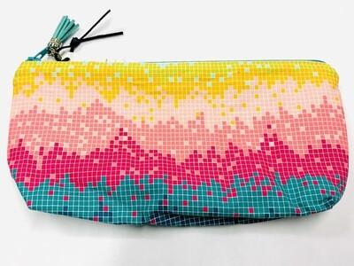 Pink Pixels Zippered Pouch - Ella's Cottage