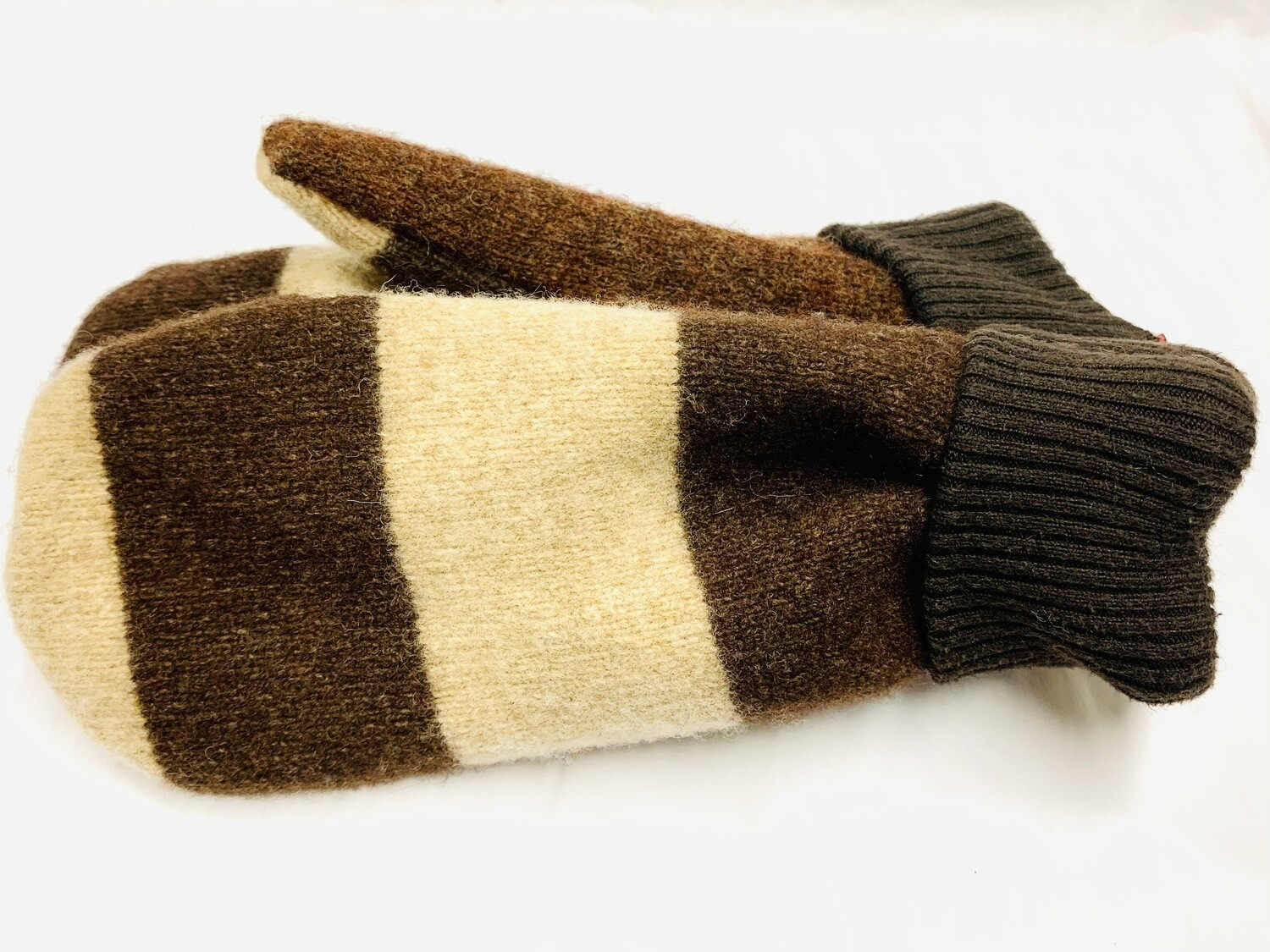 Brown Stripes, Small - Mary's Mittens