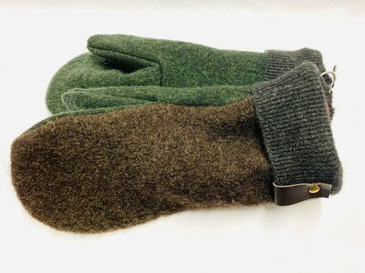 Brown & Dark Green, Small - Mary's Mittens