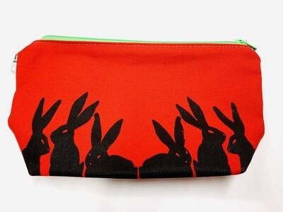 Red Bunnies Pouch - Leigh-Anne Dean