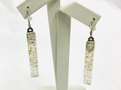White Long Dangle Earring - Carma's Glass