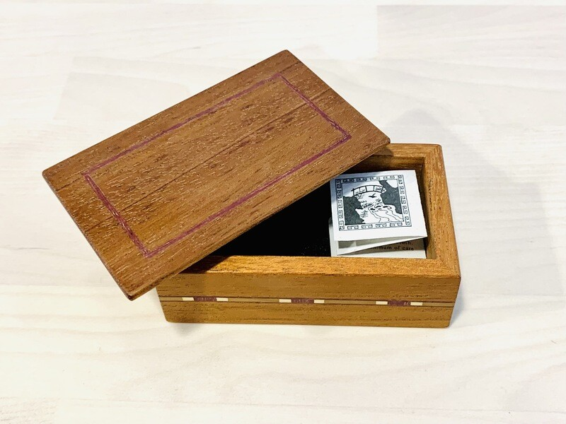 Small Mini Box, Mahogany - Tam Fleming