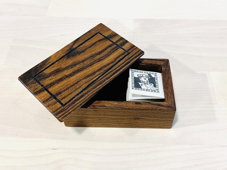 Small Mini Box, Dark Wood - Tam Fleming