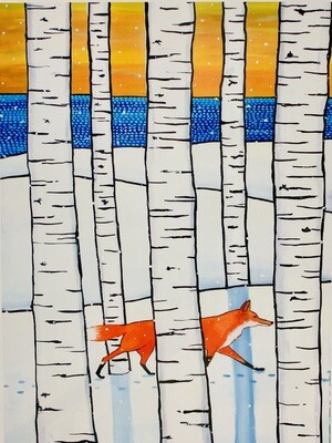 Foxes Winter Stroll - Shelagh Duffett