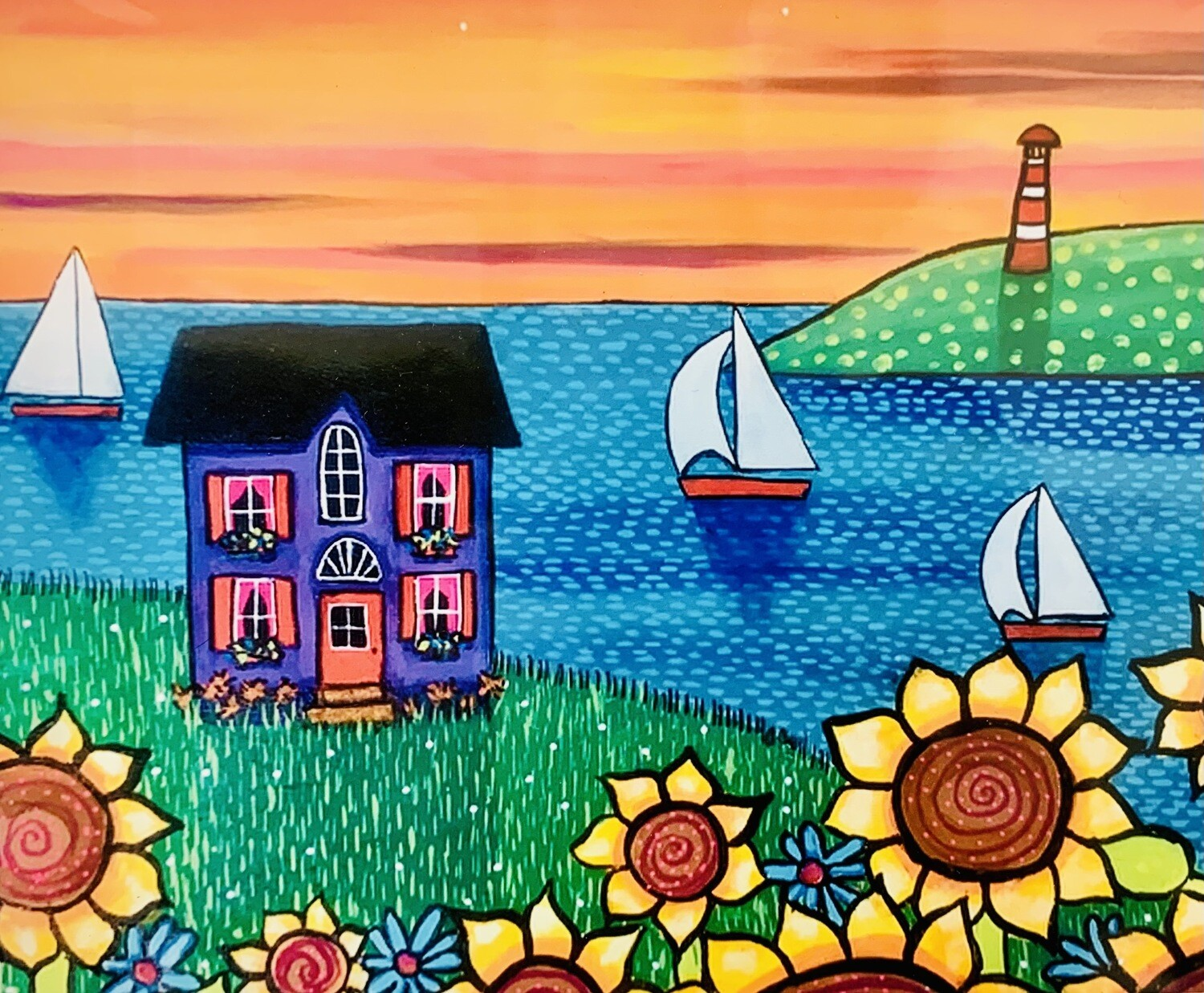Purple House by the Sea - Shelagh Duffett