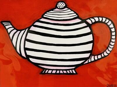 Striped Tea Pot - Shelagh Duffett