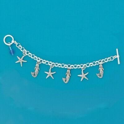 Mermaids Multi-Charm Bracelet - Basic Spirit