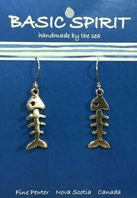 Fish Bones Earrings - Basic Spirit
