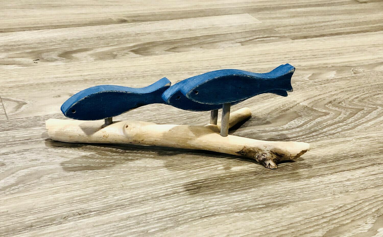 Dark Blue 3 Fish School - Jerry Walsh