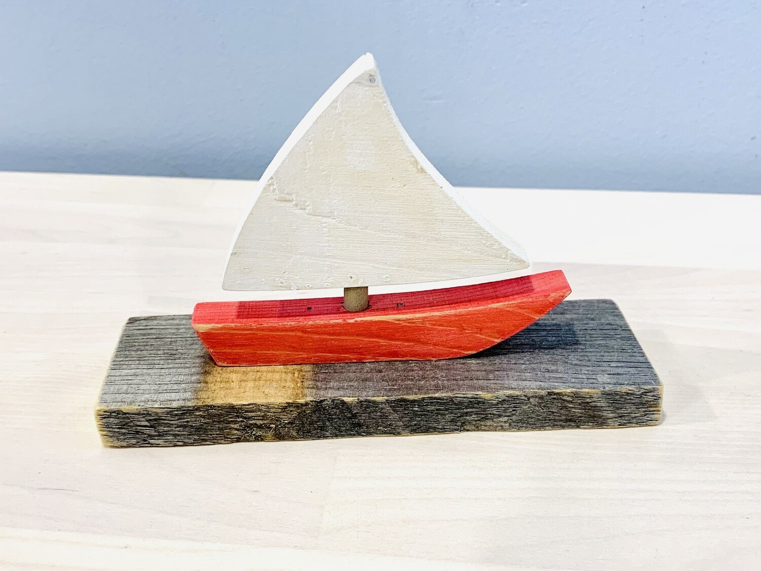 Red Small Sailboat - Jerry Walsh