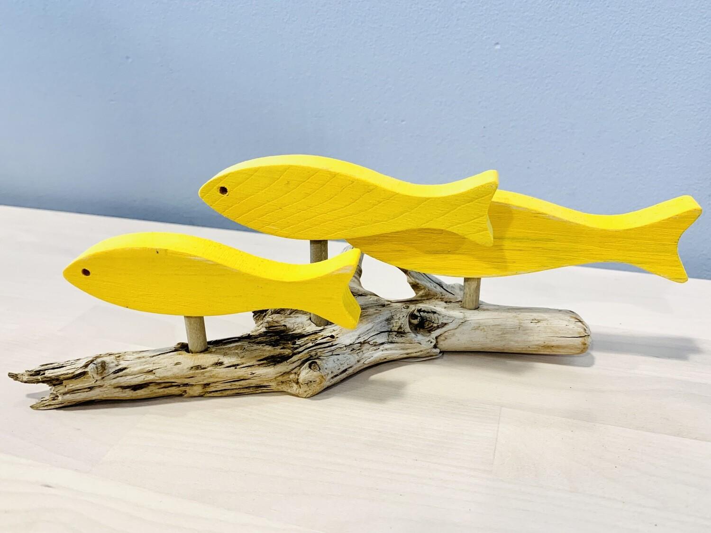 Yellow 3 Fish School - Jerry Walsh