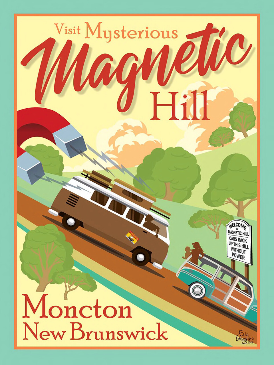 Magnetic Hill 11x14 - Destination Art