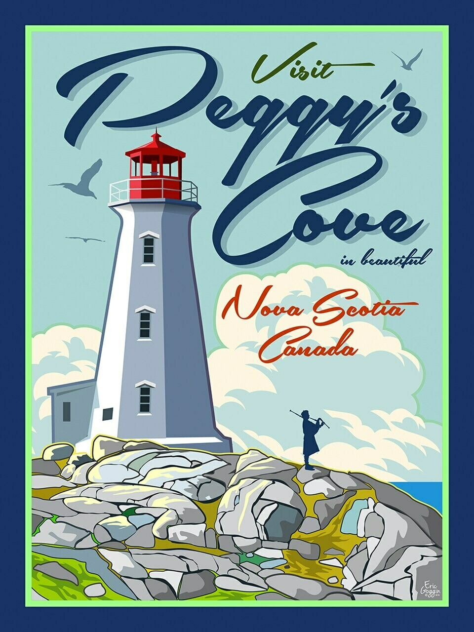 Visit Peggy's Cove Magnet - Destination Art