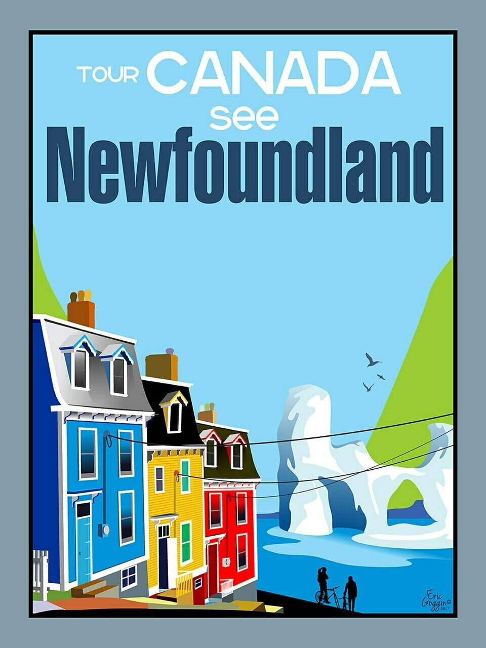 See Newfoundland Magnet - Destination Art