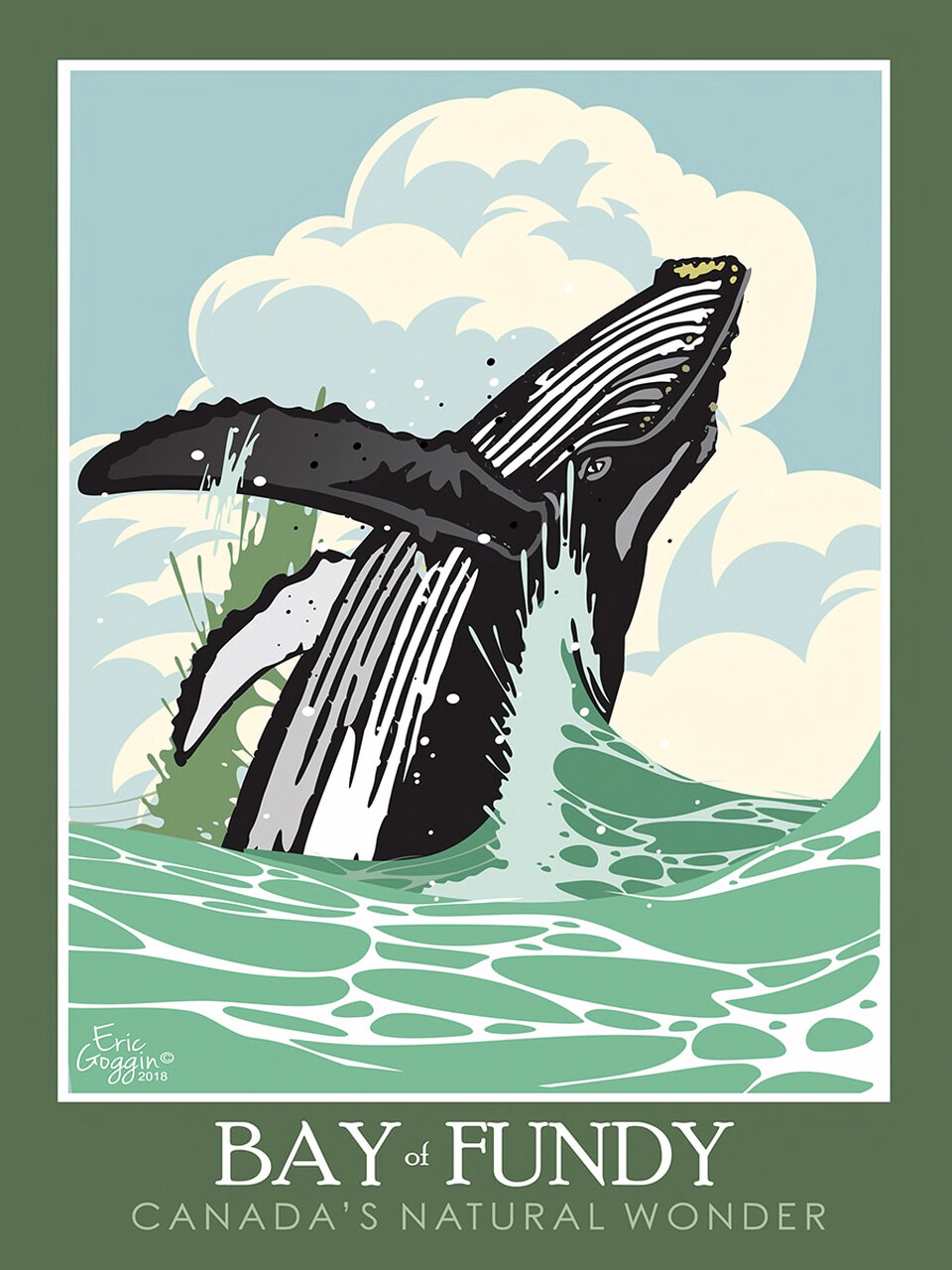 Bay of Fundy Whales 11x14 - Destination Art