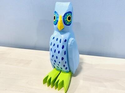 Blue Large Owl Timberdoodle