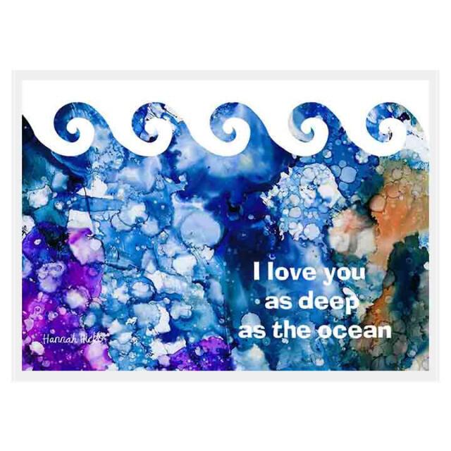 Ocean Love Card - Hannah Hicks