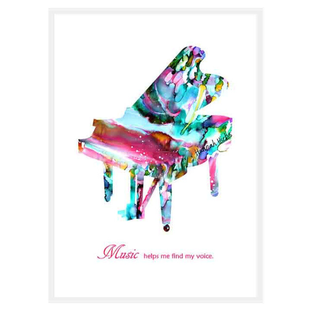 Piano Card - Hannah Hicks