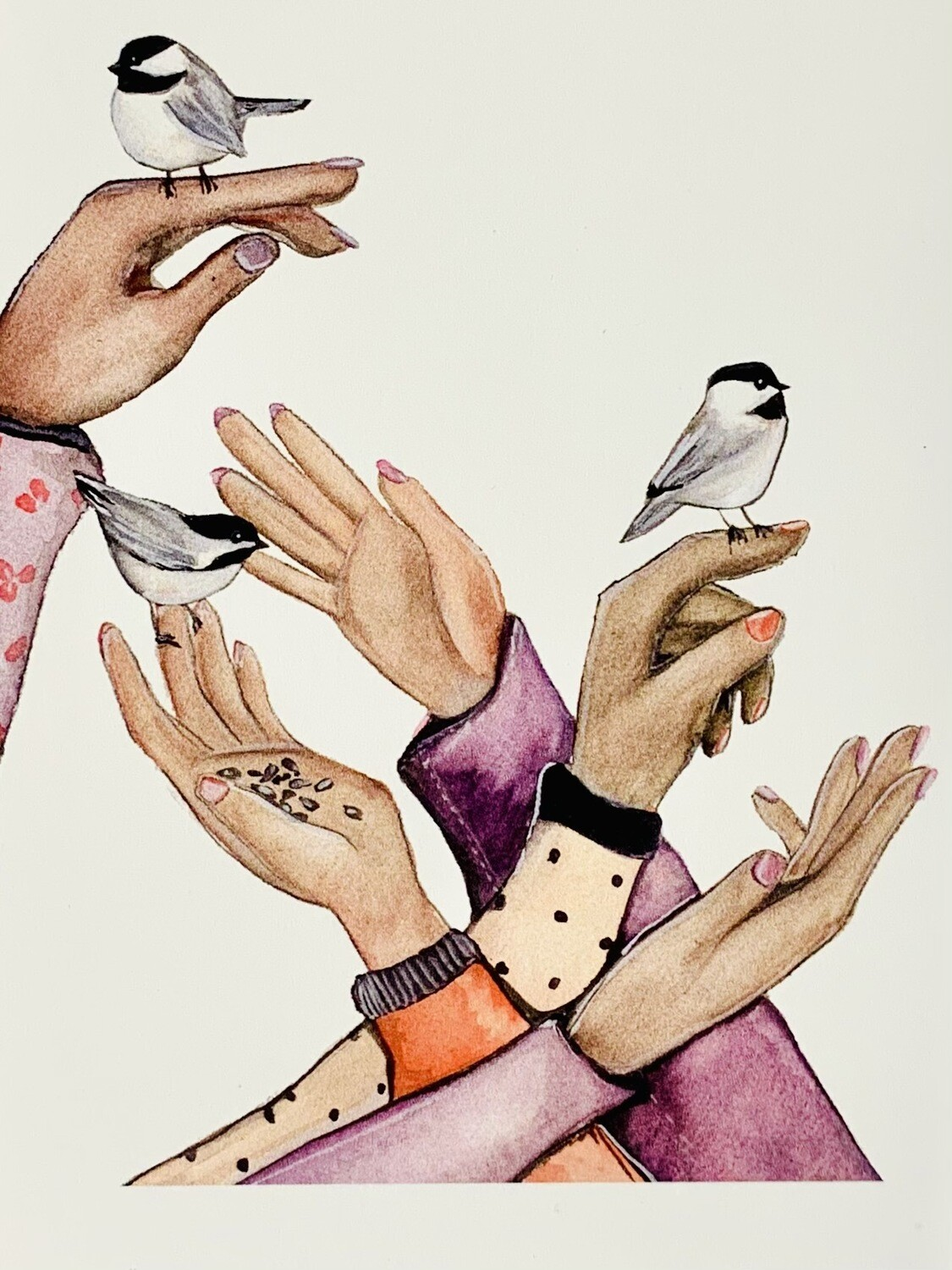 Friends and Chickadees Card - Sarah Duggan