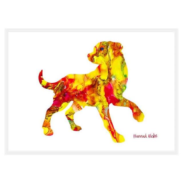 Playful Dog Card - Hannah Hicks