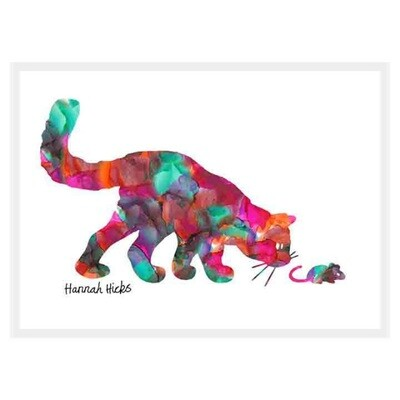 Cat & Mouse Card - Hannah Hicks